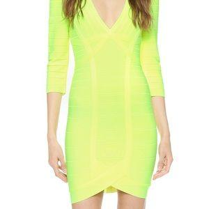 Lime Green Herve Leger Dress